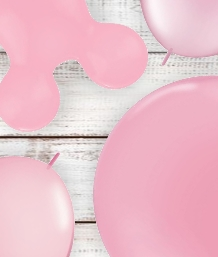Baby Pink Coloured Latex and Foil Balloon | Order Today