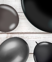 Black Coloured Latex and Foil Balloon | Order Today