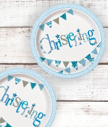 Blue Bunting Christening Party Supplies | Balloons | Decorations | Pack