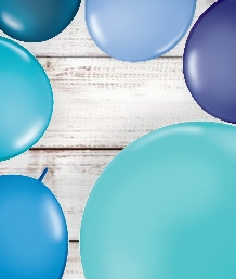 Blue Coloured Latex and Foil Balloon | Order Today