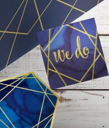 Navy Blue & Gold Geode Wedding, Anniversary and Engagement Party Supplies | Balloon | Decoration | Packs