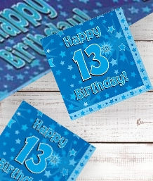 Blue Star 13th Birthday Party Supplies | Balloon | Decoration | Pack