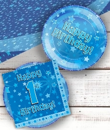 Blue Star 1st Birthday Party Supplies | Balloon | Decoration | Pack