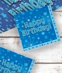 Blue Star Happy Birthday Party Supplies | Balloon | Decoration | Pack