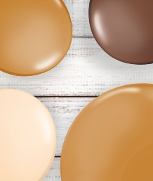 Brown Coloured Latex and Foil Balloon | Order Today