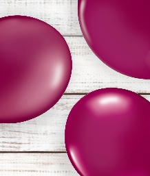 Burgundy Coloured Latex and Foil Balloon | Order Today