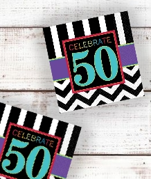 Chevron 50th Birthday Party Supplies | Balloon | Decoration | Pack