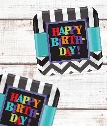 Chevron Happy Birthday Party Supplies | Balloon | Decoration | Pack