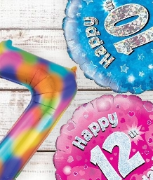 Childrens Age Balloons | Party Save Smile