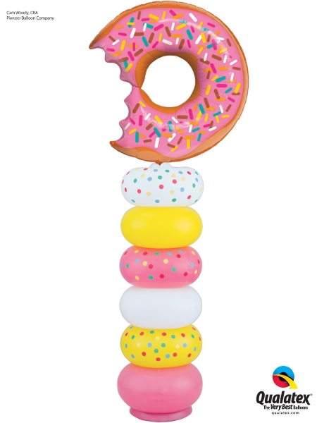 Doughnut Balloon Column Decoration