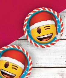 Emoji Christmas Party Supplies & Packs | Party Save Smile