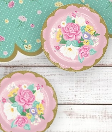 Floral Tea Party Supplies, Packs, Decorations & Balloons
