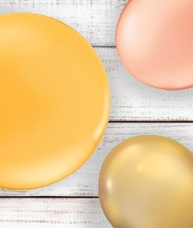 Gold Coloured Latex and Foil Balloon | Order Today