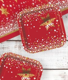 Gold Sparkle Christmas Party Supplies | Balloon | Decoration | Pack