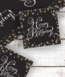Gold Sparkle Happy Birthday Party Supplies | Balloon | Decoration | Pack
