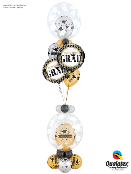 Graduation Event Helium Balloon Table Centrepiece