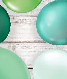 Green Coloured Latex and Foil Balloon | Order Today