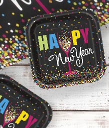 Happy New Year Colourful Confetti Party Supplies & Packs | Party Save Smile