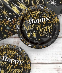 Happy New Year Glittering Party Supplies & Packs | Party Save Smile