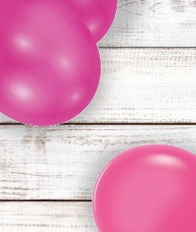 Hot Pink Coloured Latex and Foil Balloon | Order Today