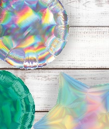 Iridescent Coloured Latex and Foil Balloon | Order Today