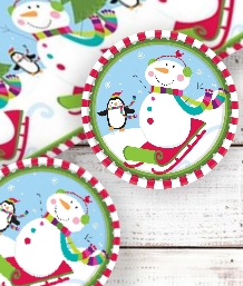 Joyful Snowman Xmas Party Supplies & Packs | Party Save Smile