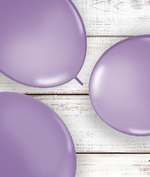 Lilac Coloured Latex and Foil Balloon | Order Today