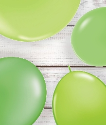 Lime Green Coloured Latex and Foil Balloon | Order Today