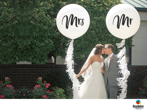 Giant Mr and Mrs Wedding Balloons with Tail