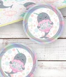 Narwhal Party Supplies including Tablecovers, Cups, Plates, Napkins, Balloons, Decorations, Games and Ready Made Party Packs. Free and Next Day UK Delivery options available.