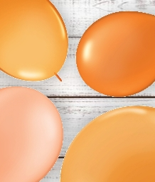 Orange Coloured Latex and Foil Balloon | Order Today