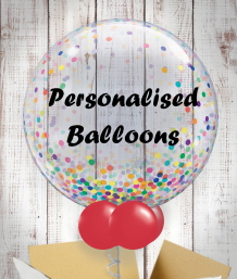 Personalised Inflated Helium Balloons Delivered anywhere in the UK