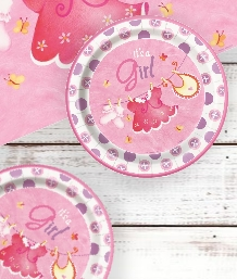 Pink Clothesline Baby Shower Supplies | Balloons | Decorations | Packs