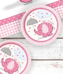 Pink Elephants Baby  Shower Supplies | Balloons | Decorations | Packs