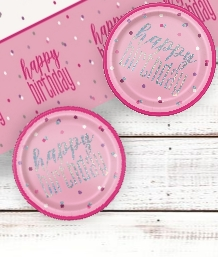 Pink Glitz 1st Birthday Party Supplies | Balloon | Decoration | Pack