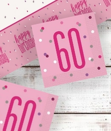 Pink Glitz 60th Birthday Party Supplies | Balloon | Decoration | Pack