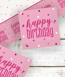 Pink Glitz Happy Birthday Party Supplies | Balloon | Decoration | Pack
