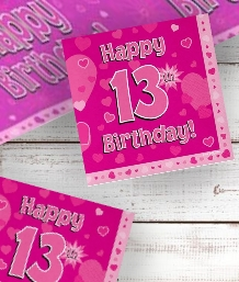 Pink Heart 13th Birthday Party Supplies | Balloon | Decoration | Pack