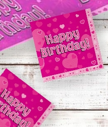 Pink Heart Happy Birthday Party Supplies | Balloon | Decoration | Pack
