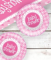 Pink Polka Dot Baby Shower Supplies | Balloons | Decorations | Packs