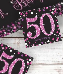 Pink Sparkle 50th Birthday Party Supplies | Balloon | Decoration | Pack