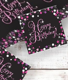 Pink Sparkle Happy Birthday Party Supplies | Balloon | Decoration | Pack