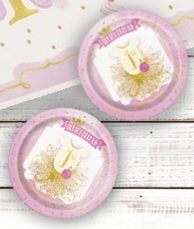 Pink and Gold 1st Birthday Party Supplies | Decorations | Packs