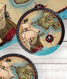 Pirate Map Party Supplies | Balloons | Decorations | Packs