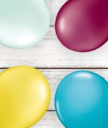 Plain Coloured Balloons | Party Save Smile