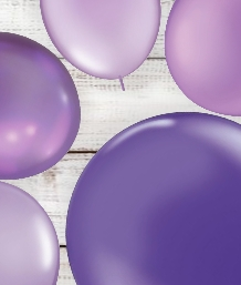Purple Coloured Latex and Foil Balloon | Order Today