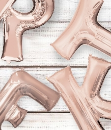 Rose Gold Letter Balloons - Party Save Smile