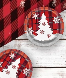 Rustic Plaid Christmas Party Supplies | Party Save Smile