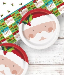 Santa and Snowman Christmas Party Supplies | Balloon | Decoration | Pack
