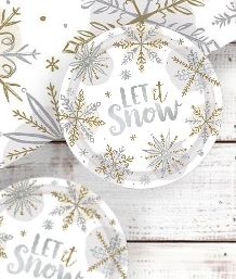 Shining Snow Christmas Party Supplies | Balloon | Decoration | Pack